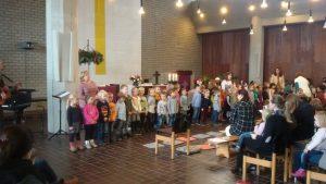 Die Kinder der Evangelischen Kindertagesstätte Arche Noah